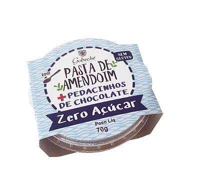 PASTA DE AMENDOIM COM PEDAÇOS DE CHOCOLATE GOBECHE 0% AÇÚCAR  - 70G