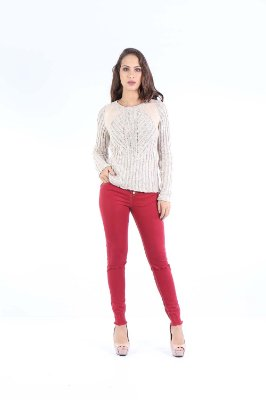 BLUSA TRICOT CASUAL - BEGE