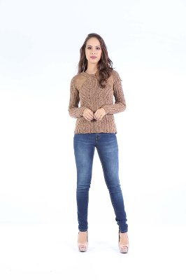 BLUSA TRICOT CASUAL - CHOCOLATE