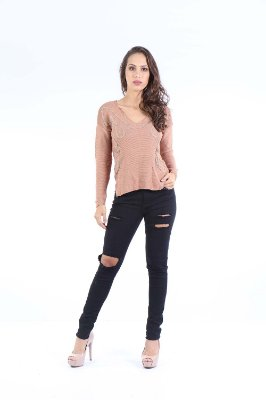 BLUSA TRICOT HAPPY HOUR - BLUSH