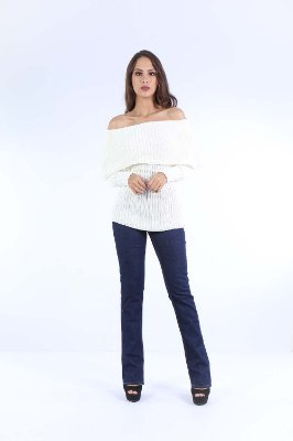 BLUSA TRICOT OMBRO A OMBRO - NATURAL