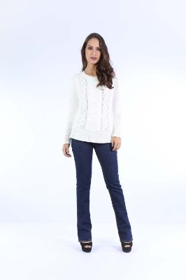 BLUSA CASUAL TRICOT - OFF-WHITE