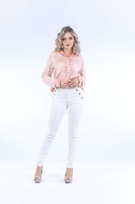 CAMISA COLOR DENIM FENDA - BLUSH