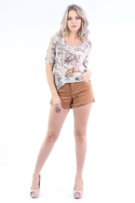 SHORTS HOT PANTS COLOR - BEGE