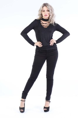 CALCA LOW JEGGING - PRETO