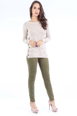 CALCA LOW JEGGING - VERDE MILITAR