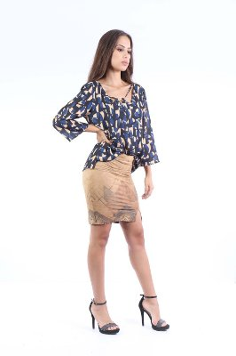 CAMISA CASUAL - ABSTRACT BLUE