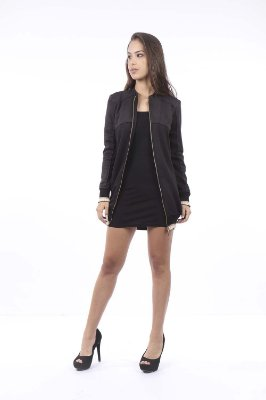 JAQUETA HAPPY HOUR SUEDE - PRETO