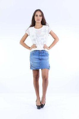 T-SHIRT CASUAL TULE - OFF-WHITE