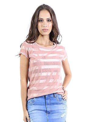 T-shirt Bana Bana Listrada Rosa