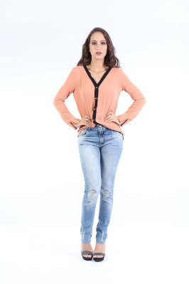 CAMISA LISA CASUAL - BLUSH