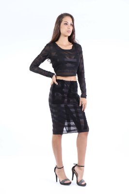 CROPPED HAPPY HOUR TULE - PRETO