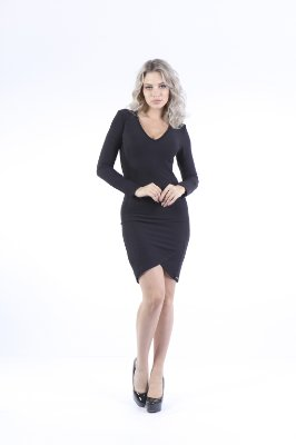 VESTIDO HAPPY HOUR LISTRADO - PRETO