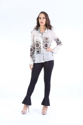 CAMISA CASUAL TULE ALONGADA - QUEEN