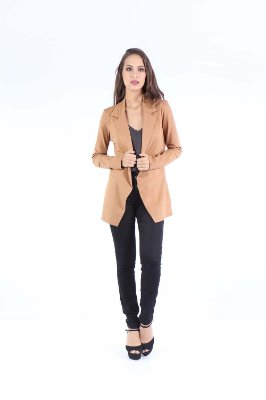 BLAZER HAPPY HOUR - CARAMELO LISO