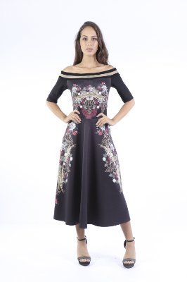 VESTIDO PREMIUM LADY - ORNAMENT ROYAL LOC