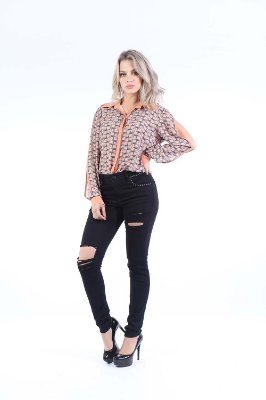 CAMISA CASUAL - MINI LEOPARD BLUSH