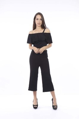 CROPPED HAPPY HOUR BABADO - PRETO