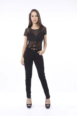 CROPPED CASUAL AMARRACAO FRONTAL - PRETO
