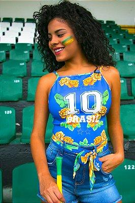 Body Bana Bana Brasil Azul Bandeira