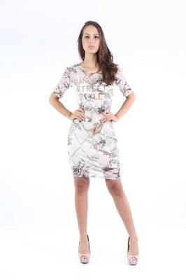 VESTIDO HAPPY HOUR TULE ESTAMPADO+ FORRO - BOTANIC
