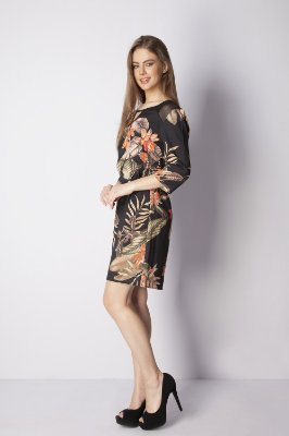 VESTIDO CHEMISIER CASUAL ESTAMPADO - CORAL FLOWERS