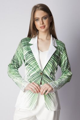 BLAZER HAPPY HOUR ESTAMPADO - THE LEAF GREEN