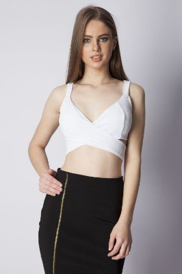 CROPPED CASUAL LISO - BRANCO