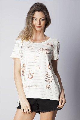 T-Shirt Bana Bana com Estampa Cobre e Off White