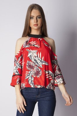 BLUSA HAPPY HOUR ESTAMPADA - HAWAIIAN PASSION