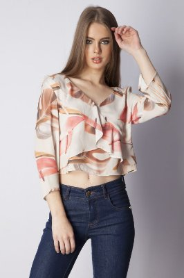 BLUSA HAPPY HOUR - WHITE GARDEN