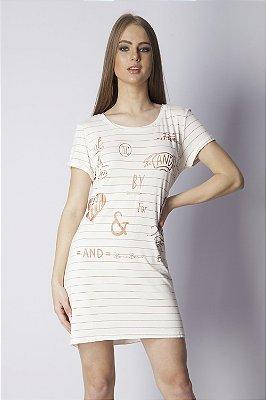 Vestido Curto Bana Bana T-Shirt Dress Off White