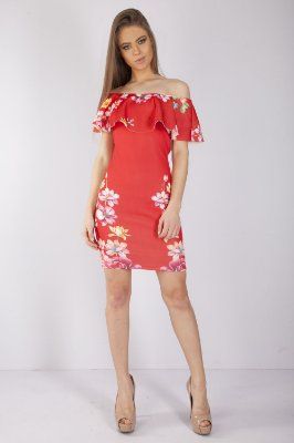 VESTIDO HAPPY HOUR BABADO DECOTE - RED BOTANIC LOC