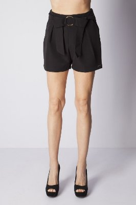 SHORTS HAPPY HOUR ARGOLA - PRETO