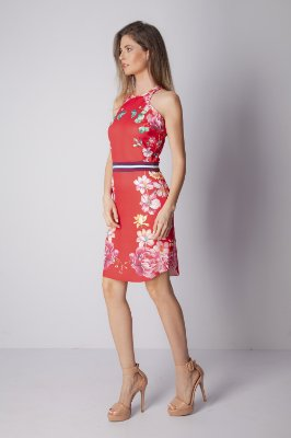 VESTIDO FLORAL HAPPY HOUR - RED BOTANIC LOC