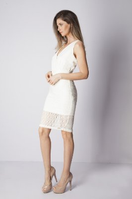 VESTIDO PREMIUM RENDA - OFF-WHITE