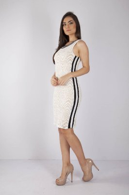 VESTIDO HAPPY HOUR RENDA - OFF-WHITE