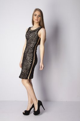VESTIDO HAPPY HOUR RENDA - PRETO