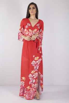 VESTIDO LONGO HAPPY HOUR - RED BOTANIC LOC