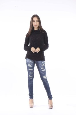 BLUSA HAPPY HOUR DE TRICOT - PRETO
