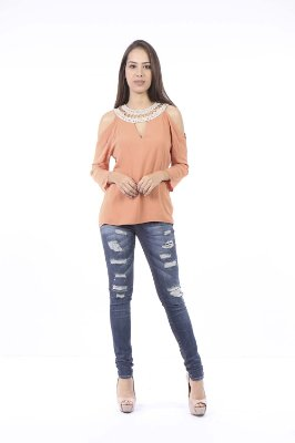 CAMISA HAPPY HOUR CROCHE - BLUSH
