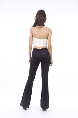 CROPPED HAPPY HOUR BICOLOR - BEGE