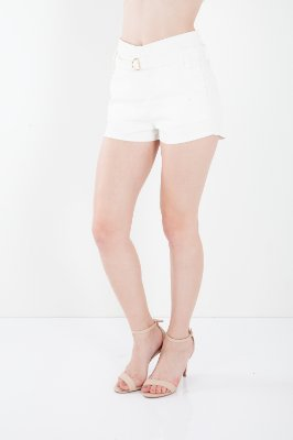 SHORTS CLOCHARD RESINADO - OFF-WHITE