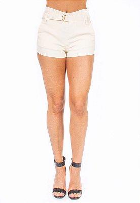 Shorts Bana Bana Alfaiataria Clochard Resinado Nude