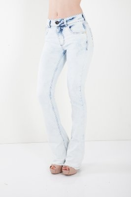 Calça Jeans Bana Bana High Boot Cut Azul