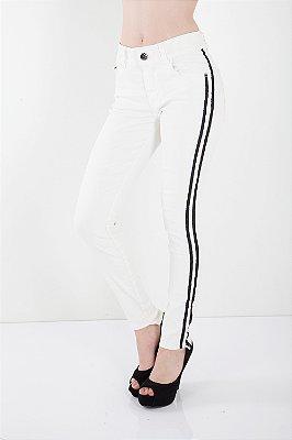 Calça Jeans Bana Bana Midi Skinny Resinada Off White