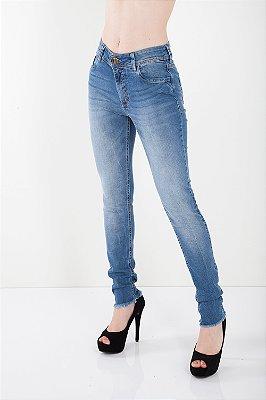 Calça Jeans Bana Bana Midi Skinny Barra a Fio Azul