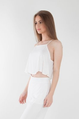 Cropped Bana Bana de Alça Off White