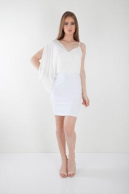 VESTIDO HAPPY HOUR SAIA JUSTA - OFF-WHITE