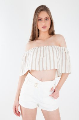 CROPPED - BEGE ESCURO